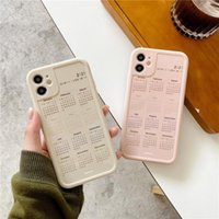INS Fashion 2021 Calendar Glossy Phone Cases For iphone 12 Pro Max 11 XR XS X7 8 Plus Soft TPU Back Cover Case