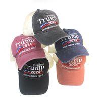 도널드 트럼프 2024 캡 수 놓은 야구 모자 조정 가능한 스트랩 5 색