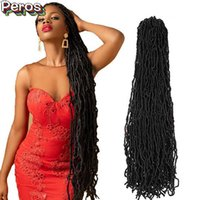 Ну вязание крючком 36 дюймов Faux Locs Удлинитель синтетическая мягкая богиня наплетения Дреды волосы для черных женщин