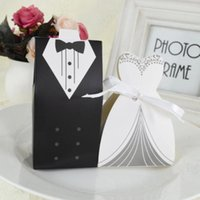 Gift Wrap 3pcs Bride And Groom Candy Bag French Thank You Wedding Favors Box Package Birthday Party Favor Bags