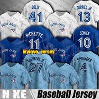Blue Jay 27 Vladimir Guerrero JR Jersey Toronto 4 George Springer 11 Bo Bichette Jerseys 10 Marcus Semer 13 Lourdes Gurrriel Jr Cavan Biggio