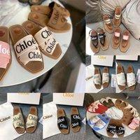 Luxus-flache sandale design stickerei schwarze hausschuhe flacher strand freizeit indoor spitze lock box volle satz von zubehör 35-40 shoe008 3