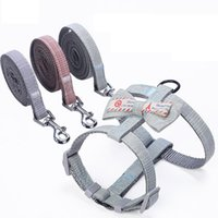Dog Collars & Leashes 2021 Bow Pet Chest Adjustable Harness Cute Cats Small Walk Strap