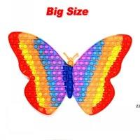 Big Size Fidget Toys Quadrato AntiTistress Toy Bubble Party Sensory Squishy Jouet Pour Aitiste per Adult Bambini regalo HWF10795