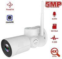 Caméra wifi extérieur ptz h.265 5mps sans fil IR 30m 5x zoom optique zoom automatique CCTV ip camhi caméras