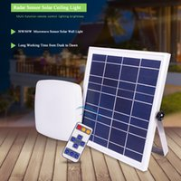 30W 60W LED Solar Ceiling Light Indoor with Remote control Microwave Rechargeable Lamp Cold White Outdoor IP44 Waterproof