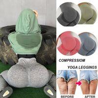 Women's Leggings Gym High Waist Seamless For Women Solid Push Up Leggins Athletic Sweat Pants Sportswear Fitness
