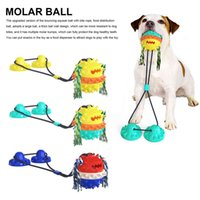 Pet molar bowl ball Bite Interactive Dog Toy With Durable Rope And Suction Cup For Pulling Chewing Teeth Cleaning Self Playing Tog For Dogs