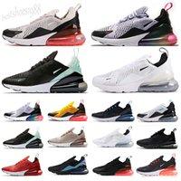 Nike Air Max 270 27c Siyah Beyaz adamlar kadınlar için Ayakkabı Koşu Varış Habanero Kırmızı BARELY Gül Üçlü Siyah Beyaz gerçek Kadınlar Mens Trainer Sneakers Be Bred