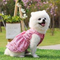 Cute Pet Dog Cat Sequin Skirt Pet Clothes Supplies Spring Summer Princess Wedding Dress For Dogs Apparel
