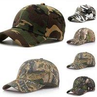 Outdoor-Sonnencreme Quick-Trocknende Kappe Dschungelblätter Tarnkappe Unisex Männer und Frauen Camo Baseball-Kappe Hut DHL