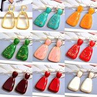 Long Clear Resin Drop Hoop Earrings Hanging Elegant Irregular Dangle Earring Fine Jewelry Accessories For Women