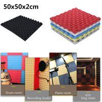 Duvar Kağıtları Akustik Köpük Panel Ses Durdurma Absorpsiyon Sünger Stüdyo KTV Ses Yalıtımı Takozlar Prova Birden Çok Renk # N03