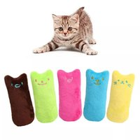 Dolls Teeth Grinding Catnip Toys Funny Interactive Plush Pet Kitten Chewing Vocal Toy Claws Thumb Bite Cat mint For Cats