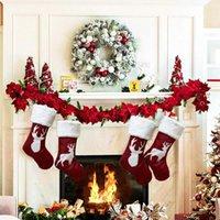 Рождественские чулки подарочные держатель игрушки орнамент для семейного праздника рождественской партии аксессуар украшения