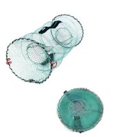 Рыболовная корзина Складные раки-ловушки складные портативные мелкие сетки омаров Crawfish Breath Bait Nets Tools аксессуары