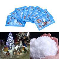 Sztuczne płatki śniegu Fake Magic Instant Snow Festival Dekoracje na Boże Narodzenie Sztuczne Śnieżne Noc DIY