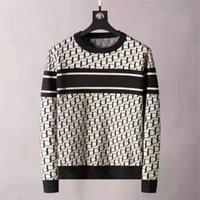 2021 мужской свитер высокого качества дизайнер роскошный пуловер двойной буквы свитер