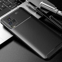 Handy-Taschen IQOO 7 Kohlefaser-Hülle für vivo Luxus weiche TPU Slim Silikonabdeckung IQOO7 5G Capa Fundas