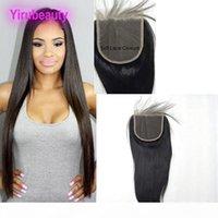 Malasia 5x5 tamaño humano cabello Cierre de encaje Camboya Malasia Virginal Hair 5 * 5 Cierre de cordones Tres de la parte superior de la parte superior de la parte libre
