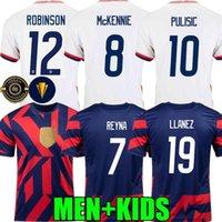 2021 Amerika Birleşik Devletleri Futbol Formaları Robinson Uzakta 2022 ABD Pulisik Dest McKennie Reyna Adams Weah Musah Leticget 21 22 Erkek Kadın Çocuklar Futbol Gömlek ConcAcaf Altın Kupası