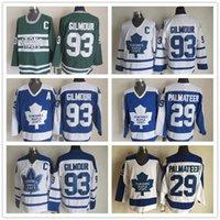Beste 93 Doug Gilmour Trikots Männer Toronto Ahornblätter 64 StanleyCup 29 Felix Potvin 29 Mike Palmateer Hockey Vintage Classic Shirt Uniform