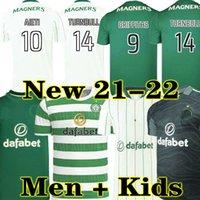 Griffiths 21 22 سيلتيك لكرة القدم الفانيلة بعيدا أخضر مكجريجور 2021 2022 فورست كريستي إدوار إليونوسي تيرنبول الرجال مجموعات أطقم كرة القدم