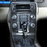 자동차 스타일링 인테리어 트림 에어컨 CD 제어 패널 장식 스티커 커버 S60 2014-2021 기타 액세서리