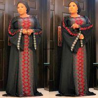 Autumn Winter Party Dress Women Fashion Africa Shiny Dresses Muslim Abaya Long Sleeves Kaftan Robe Africaine Vestido Ethnic Clothing