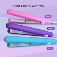 High Quality Mini straightener Pink Ceramic Straightening Corrugated Curling Iron Styling Tools Hair Curler