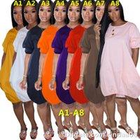 Kadın Elbiseler Kabarcık Elbise Artı Boyutu Tshirt Fener Etek Tasarımcı Yaz Kısa Kollu Yelek Elbiseler Rahat Baskılı Bayan Giyim