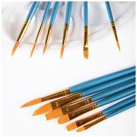 10 pçs / set pincéis de pintura redondo ponta pontiaguda de nylon pincéis de cabelo de nylon para aquarela de óleo acrílico, arte nail art, detalhe fino 2094 v2