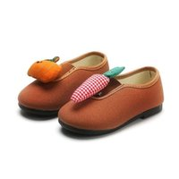 Sneakers COZULMA Kids Breathable Flat Slip-on Shoes Child School Baby Girls Cute Carrot Decoration Casual Size 21-30