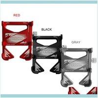 Aessories Cycling Sport Outdoorsbike Supporto per cellulari in lega di alluminio universale 360 ° Rotazione Bicycle Banket Auto Camion rack Drop Deliv
