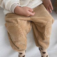 2021 Весна Новые Детские Детские Корденры Брюки Брюки Мода Девушки Брюки Детские Мальчики Дети Полная Длина Брюки Детская Одежда