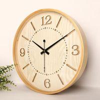 Wall Clocks Wooden Digital Clock Silent Simple Modern Design Home Watches Orologio Da Parete Living Room Decoration MM50WC