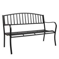 الولايات المتحدة الأسهم حديقة حديقة في الهواء الطلق مقعد البدلاء الفناء الشرفة كرسي خمر الفناء الخلفي مقعد الأثاث الحديد الإطار سهلة لتجميع لشجرة الفناء
