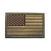 Bandeira dos EUA Tactical Militares Militares Fronteira de Ouro Bandeira Americana em Patches Applique Jeans Tecido Adesivo Remandos Hat Badges KKB7722