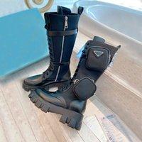Женщины дизайнеры Rois Boots High Raw Ankle Martin Boots и съемный ключевой камень нейлоновые ботинки военные вдохновлены низкие нарезанные боевые ботинки высшего качества
