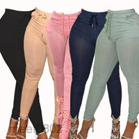 women Pants women's clothing autumn sexy casual stretch pit strip skinny trousers