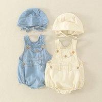 Strampler Ins Sommer Baby Jungen Denim Bodysuit Unisex Licht Farbe Jeans Jumpsuit Mode Babys Kleidung Klettern Kleidung für 0-24M Mädchen