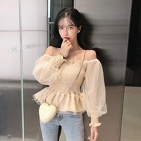 Women's Blouses & Shirts Square Collar Ruffles Blusas Mujer De Moda Sweet Style Korean Womens Tops And Fashion Brand Polka Dot Autumn