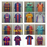 96 97 Barcellona Retro Soccer Jersey Figo Ronaldinho Messi Ronaldo 08 09 07 91 92 Koeman Classic Rivaldo Henry Laudrup Guardiola Xavi Pique 1899 1999 Stoitchkov