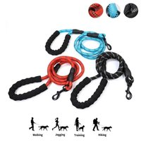 Dog Collars & Leashes Nylon Leash Elastic Force Rope Glow In The Dark Pet Harness For Glowing Collar Accessories Pitbull