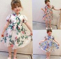 girl dress designer children tutu skirt high quality dresses baby Girls short sleeve summer kids clothing