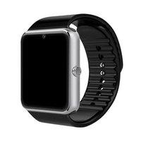 GT08 Bluetooth Smart Watch Sports Fitness Tracker com câmera SIM SIM Slot Bracelete SmartWatch Android Relógios para Samsung Smartphone