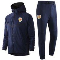 Romanya Ulusal Takımı Futbol Eşofmanlar Ter Suits Spor Erkek Hoodies Ceketler Eşofman Jogger Tişörtü Eğitim Ceket Pantolon Kitleri Spor Takım Elbise Setleri