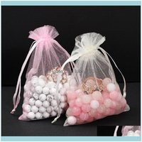 Favor Holders Supplies Wedding , Party Events50Pcs Bag 7X9Cm Organza Selection 19 Colors Dable Gift & Pouches Jewelry Packaging Bags 5Zwp001
