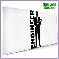 Mouse Pads & Wrist Rests Engineer Architect Profession Job Construction House Building Site Machine Engineering Black Gamer Pc Completo