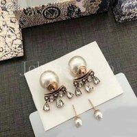 CD Silver Gold Snap Snapt Charm Crystal Pendiente Joyería Marca de Fashion Designer Regalos para mujeres Chicas con caja original DD026